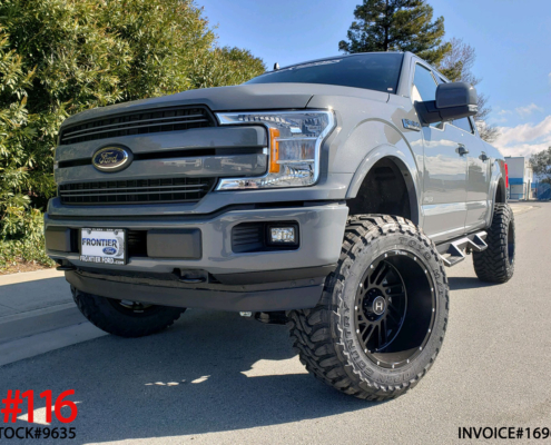 2019 FORD F150 CREW CAB #9635 6″ Offroad Leveling System w/ Shocks, Hostile Stryker 20x12 Rims, 35″ Toyo Open Country M/T, Westin HDW Nerf Bars w/ Drop Down Steps, Speedometer Calibrator.
